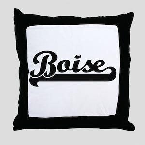 Boise Idaho Classic Retro Design Throw Pillow