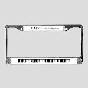 88 keys License Plate Frame