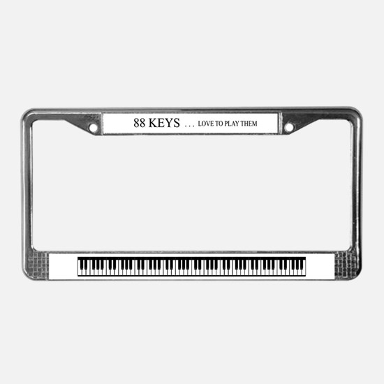 88 keys License Plate Frame