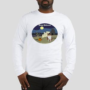 Halloween Collie Dog Long Sleeve T-Shirt