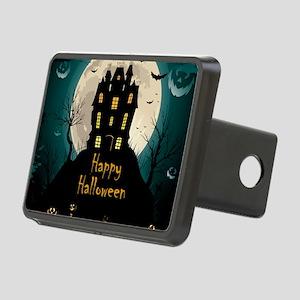 Happy Halloween Castle Rectangular Hitch Cover