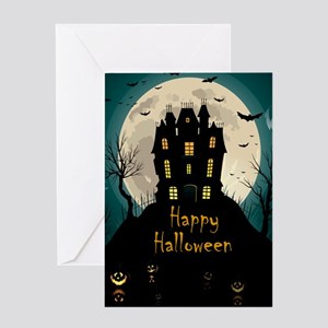 Happy Halloween Castle Greeting Cards