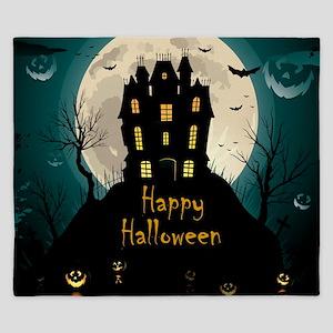 Happy Halloween Castle King Duvet