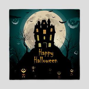 Happy Halloween Castle Queen Duvet