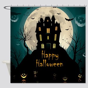 Happy Halloween Castle Shower Curtain