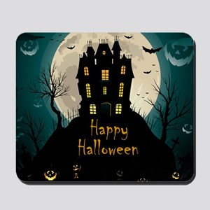 Happy Halloween Castle Mousepad