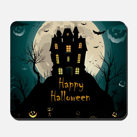 Happy Halloween Castle Mousepad