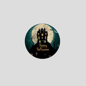 Happy Halloween Castle Mini Button