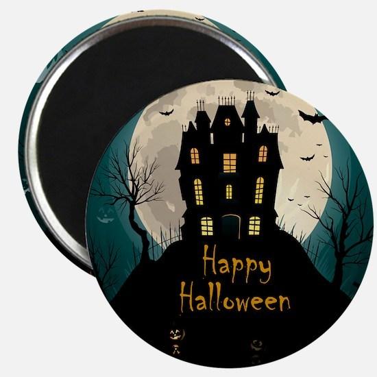 Happy Halloween Castle Magnets