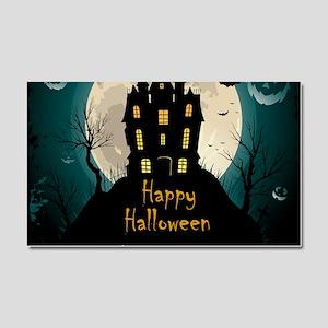 Happy Halloween Castle Car Magnet 20 x 12