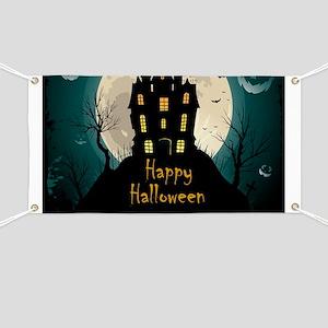 Happy Halloween Castle Banner