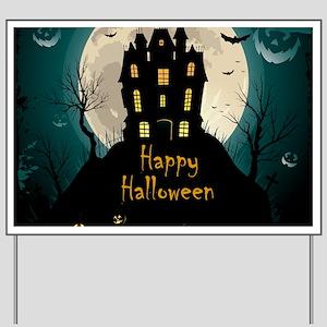 Happy Halloween Castle Yard Sign