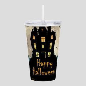 Happy Halloween Castle Acrylic Double-wall Tumbler