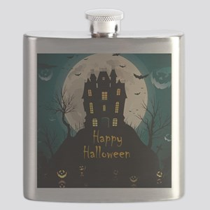 Happy Halloween Castle Flask