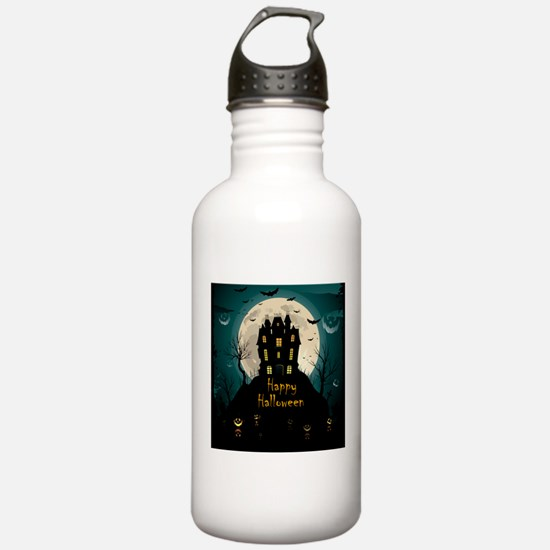 Happy Halloween Castle Sports Water Bottle