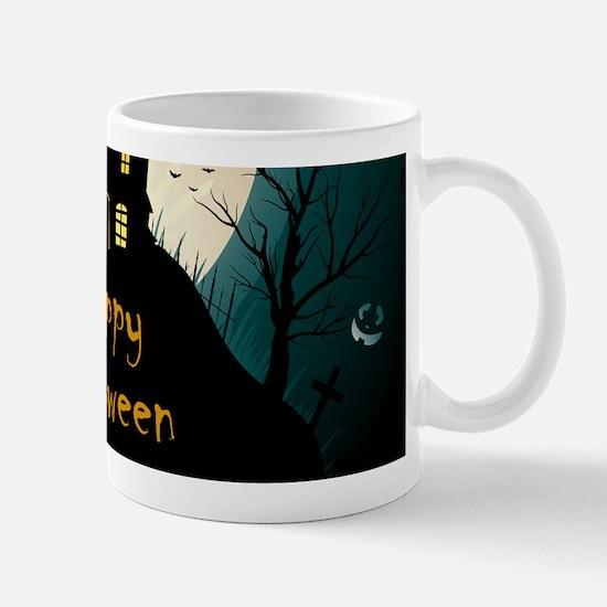 Happy Halloween Castle Mugs