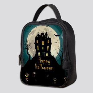 Happy Halloween Castle Neoprene Lunch Bag