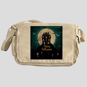 Happy Halloween Castle Messenger Bag