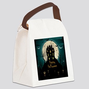 Happy Halloween Castle Canvas Lunch Bag