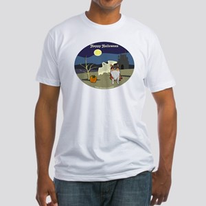 Halloween Collie Dog Fitted T-Shirt