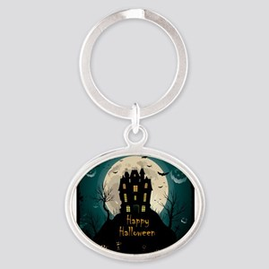 Happy Halloween Castle Keychains