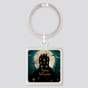 Happy Halloween Castle Keychains