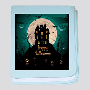 Happy Halloween Castle baby blanket