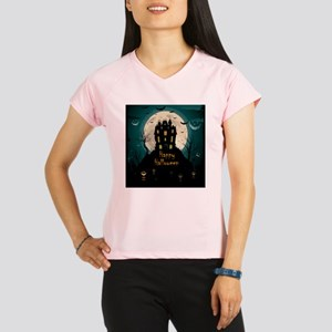 Happy Halloween Castle Performance Dry T-Shirt
