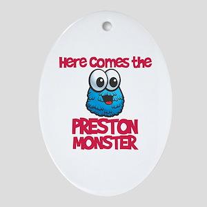 Preston Monster Oval Ornament