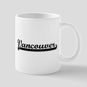 Vancouver Washington Classic Retro Design Mugs