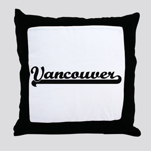 Vancouver Washington Classic Retro De Throw Pillow