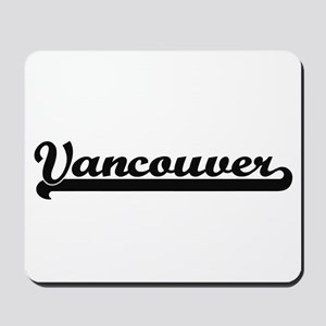 Vancouver Washington Classic Retro Desig Mousepad