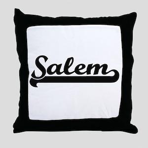 Salem Oregon Classic Retro Design Throw Pillow