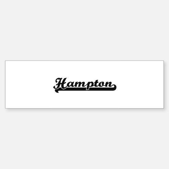 Hampton Virginia Classic Retro Desi Bumper Bumper Bumper Sticker