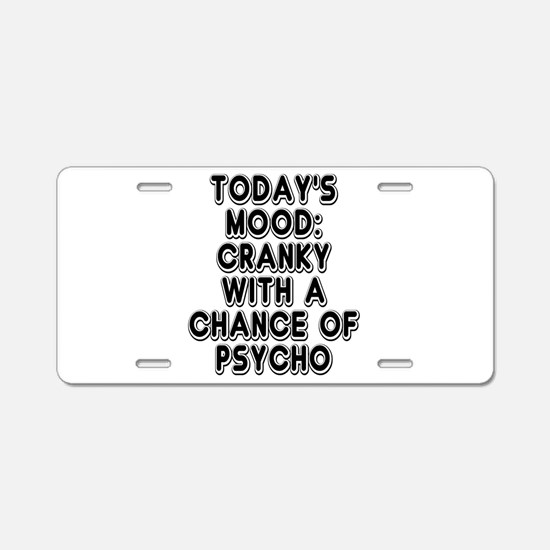 Cranky With A Chance Of Psy Aluminum License Plate