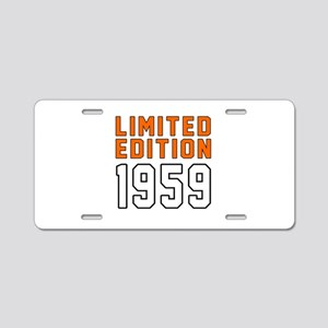 Limited Edition 1959 Aluminum License Plate