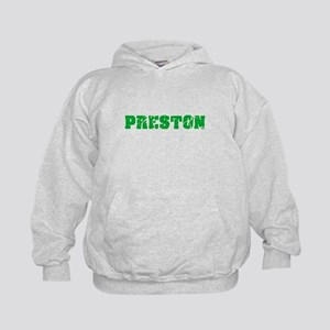 Preston Name Weathered Green Design Sweatshirt