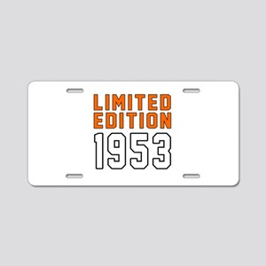 Limited Edition 1953 Aluminum License Plate