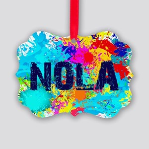 NOLA Splat Picture Ornament