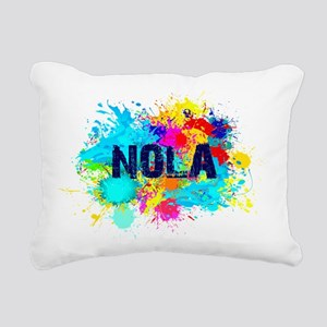 NOLA Splat Rectangular Canvas Pillow