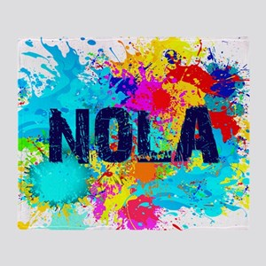 NOLA Splat Throw Blanket