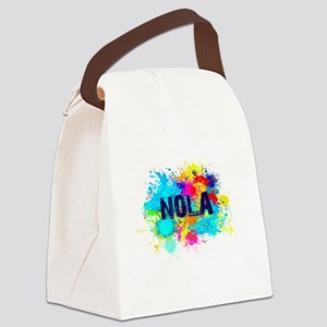 NOLA Splat Canvas Lunch Bag