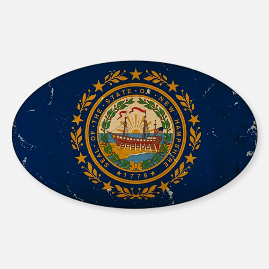 New Hampshire State Flag VINTAGE Decal