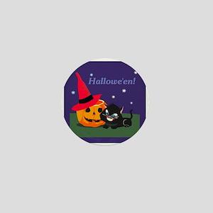 Halloween Kitty Mini Button