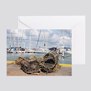 Lobster pots, Yarmouth, England Greeting Card