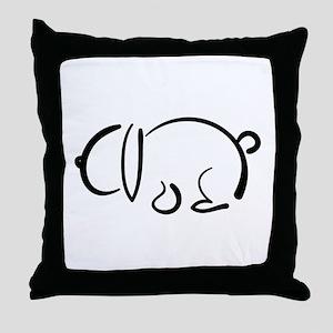 bunny_bw Throw Pillow