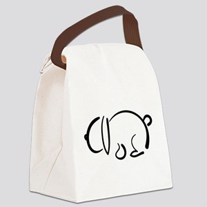 bunny_bw Canvas Lunch Bag