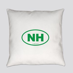 New Hampshire NH Euro Oval Everyday Pillow