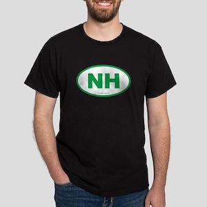 New Hampshire NH Euro Oval Dark T-Shirt