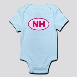 New Hampshire NH Euro Oval Infant Bodysuit